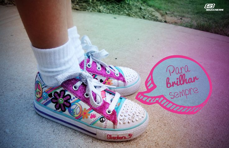 Brilhe a cada passo com Skechers Twinkle Toes! :)