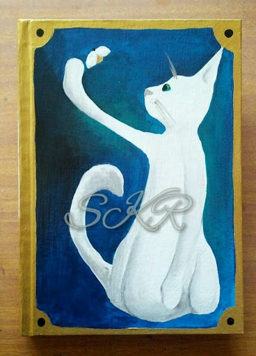White Cat Art Journal