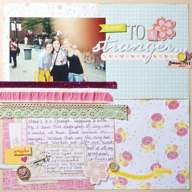 quandrant squares & 3 strips of ribbon :: after: 4X6 Photos, Inspiration Scrapbook, Shimel Lain, Shimel Inspiration, Scrapbook Layout, Crafts Blog, Backgrounds Ideas, Shimell Lain, American Crafts