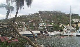 Ivan passed directly over Grenada on September 7, 2004, killing 39 people. The capital, St. George's, was severely damaged and several notable buildings were destroyed, including the residence of the prime minister. #hurricaneivan, #CabinetHardware.org, #hurricane