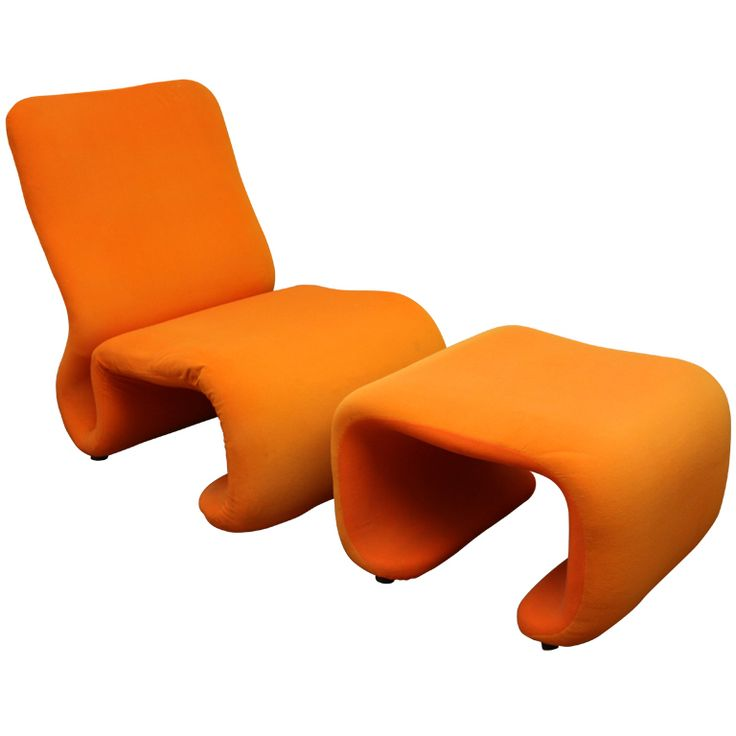 Olivier Mourgue Lounge Chair And Ottoman