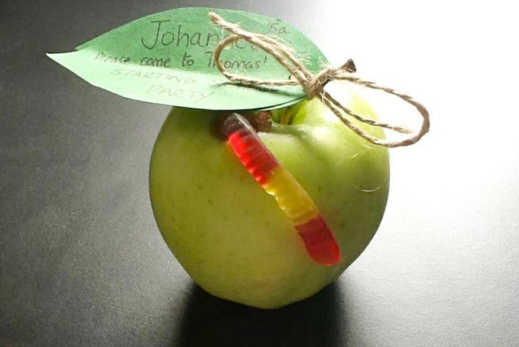 Save money & make your kids BIRTHDAY INVITATIONS! This Hungry Caterpillar invite is really easy to make & looks very cool. All you need is an apple, a homemade paper leaf tied to the apple with string & a jelly worm. Just write the party details on the leaf. Check out these other party money saving ideas too: http://www.under5s.co.nz/shop/Hot+Topics/Activities/Birthday+Parties/How+to+save+money+on+kids+birthday+parties.html