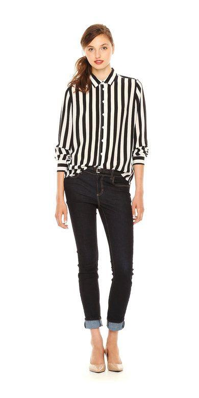 Print Silk Shirt | Tops | Women | JOEFRESH.COM