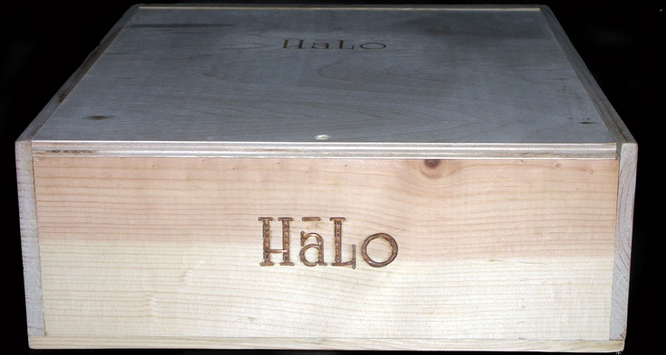 Halo Winery 3 Bottle Wooden Wine Case from Napa