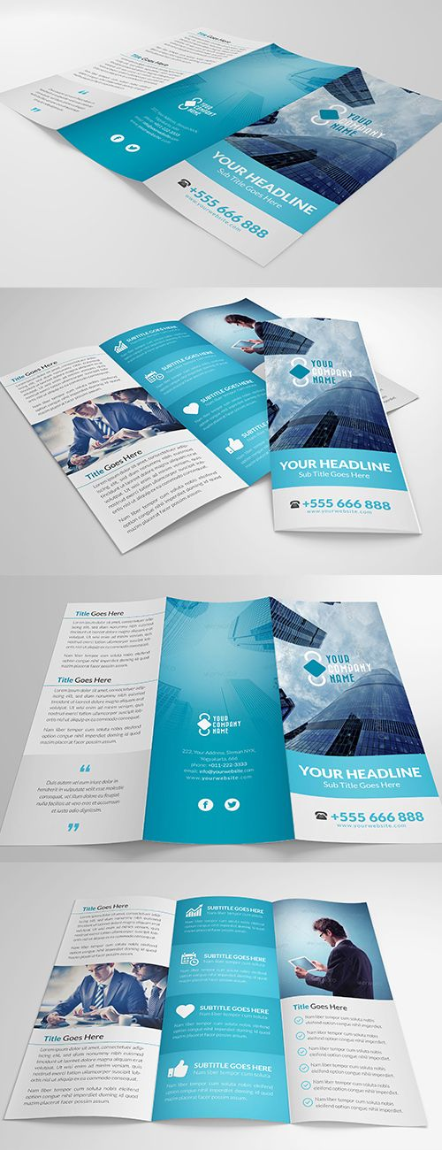 elegant multipurpose trifold brochure vol 2 corporate brochures - Booklet Design Ideas
