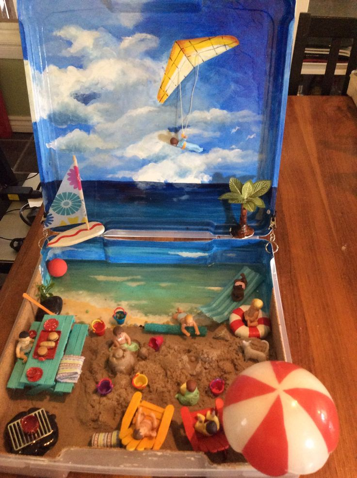 Kids Diorama With Details: 8 Best Kids Dioramas Toobs. Kinetic Sand Images On