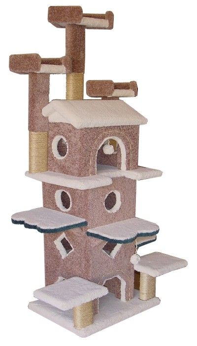 Cat Tree made of solid wood. The Best Cat Furniture on the market!