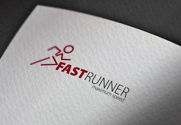 Fast Runner Logo by Esse Logo Studio on Creative Market
