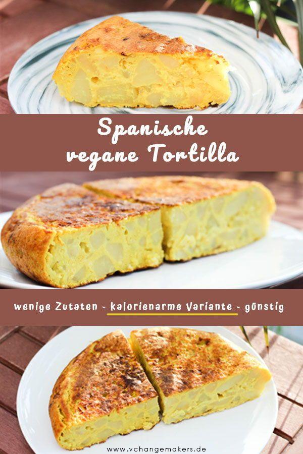Rezept: Spanische vegane Tortilla – wenige Zutaten – kalorienarm – günstig