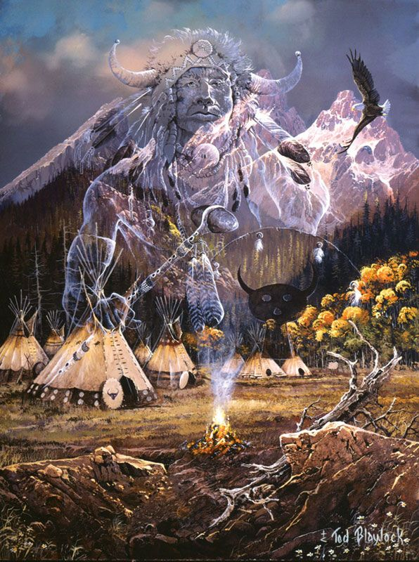 native american animal spirit guides | Spirit of the Flame Native American Jigsaw Puzzle