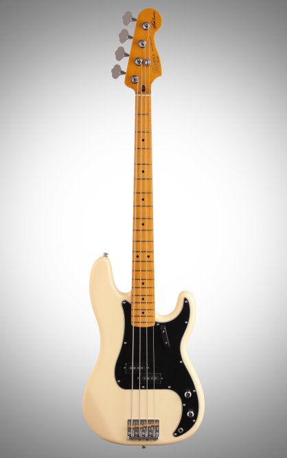 Squier Matt Freeman Precision Electric Bass: This bass was modeled after Matt Freeman's mid-70s Bass and features a vintage-tint gloss, fast-action neck, and a traditional split-single-coil pickup.