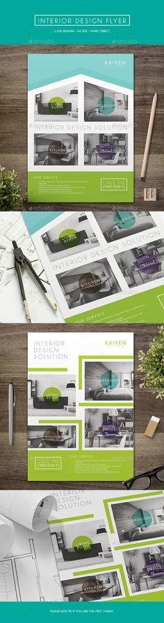 Interior Design Flyer Template PSD #design Download: http://graphicriver.net/item/interior-design-flyer/14144086?ref=ksioks