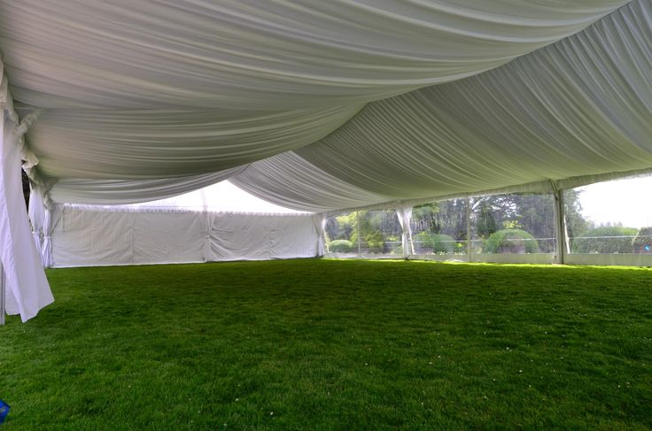 Tent Liner/Black & White Party Rentals Parksville BC/Vancouver Island Weddings