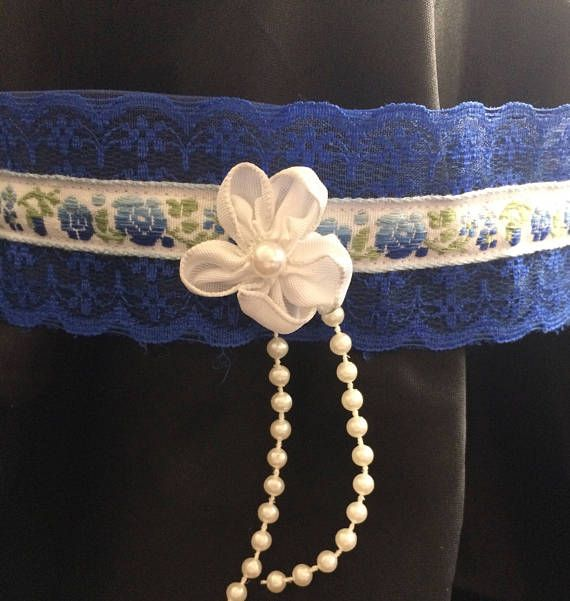 Blue and white lace lolita choker necklace. Check out this item in my Etsy shop https://www.etsy.com/ca/listing/520216780/lace-lolita-choker-necklace