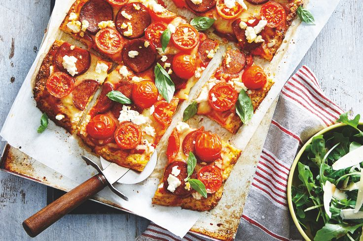 This Cauliflower Crust Pizza combines a cauliflower base with Italian flavours, making the pizza seem way more indulgent that it actually is!
