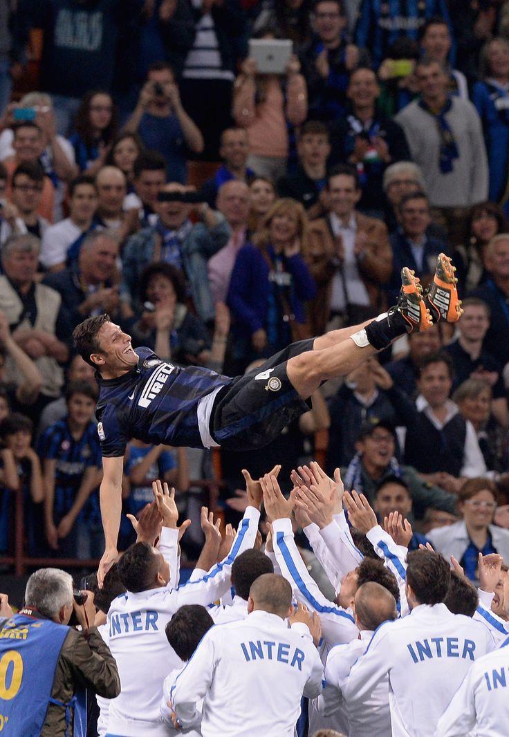 Javier Zanetti of Internazionale Milan FC -- Retired at last!