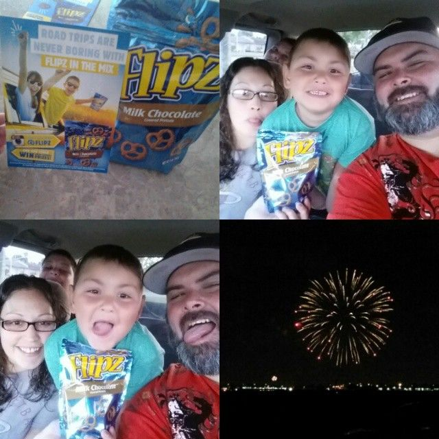 We had a little #roadtripflipz to see fireworks today and some #flipzfun. It's a great snack on the go and #flipz taste delicious. Thanks and #GotItFree from @mysmiley360 to review. Check out my blog (http://sugarmama1211.tumblr.com/) to read more about this product and others. #snacktime #onthego #smiley360 #Smiley360Mission
