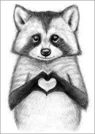 Nikita Korenkov - Waschbär mit Herz