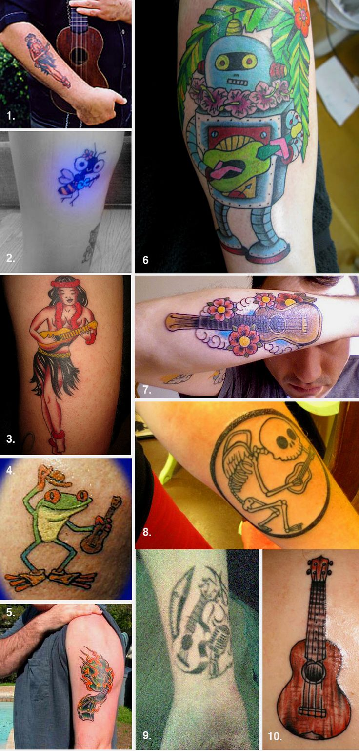 Thinking of getting a uke tattoo? Here's some inspiration!