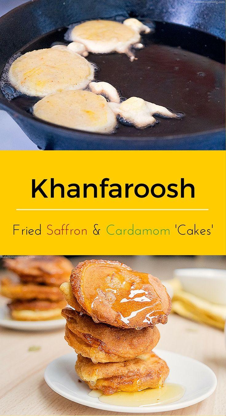 Khanfaroosh / Khanfaroush: Emirati fried saffron and cardamom 'cakes'. #menacookingclub