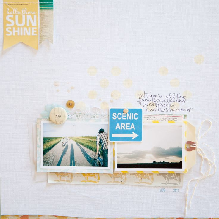 pretty: Projects, Galleries, Studios, Scrapbooking, Scrapbook Layout, Marcy Penner, Scenic Area
