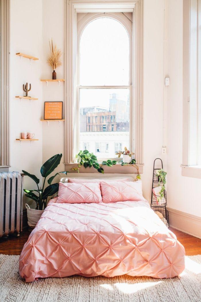 Déco De Lit Rose Poudré, Petites Tablettes Murales, Petite échelle  Décorative, Jolie Fenêtre, Petite Chambre à Déco Romantique