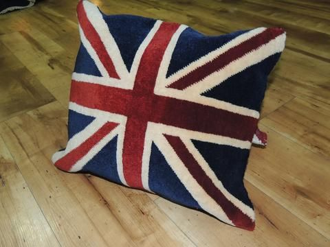 Union Jack Rug Pillow Cover