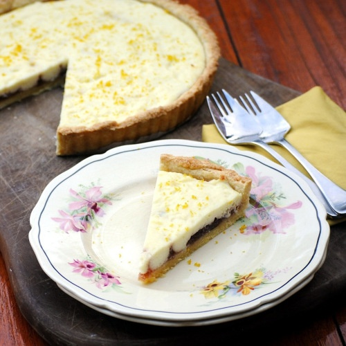 Lemon ricotta and orange marmalade tart | Sweet Things | Pinterest