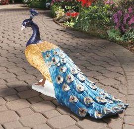 Regal Peacock Garden Statue $135.99 Www.AllThingsPeacock.com