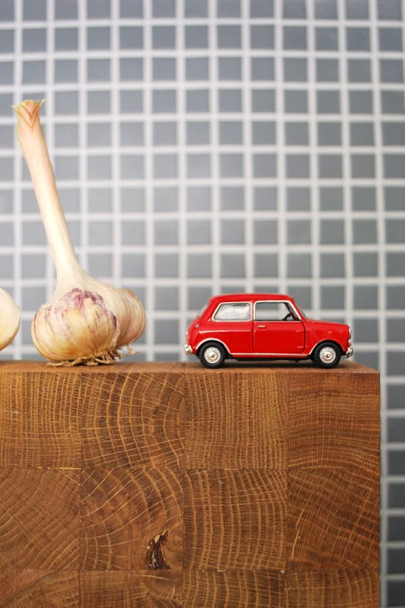 detalji in kitchen. Mosaic tiles, Mini Cooper