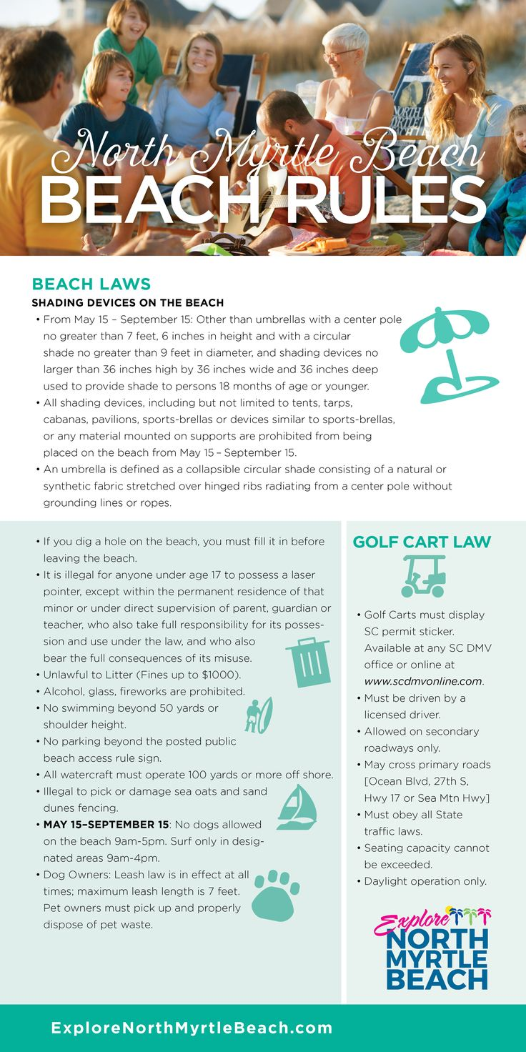 Follow these beach rules for the best vacation in North Myrtle Beach, S.C.