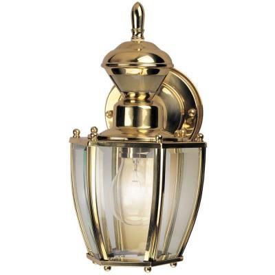 9 best outdoor lamps images on pinterest outdoor lamps polished hampton bay 150 degree outdoor polished brass motion sensing decorative lamp hbi aloadofball Images