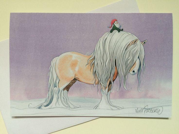 Julkort Aftonrodnad via Mulleshoppen - Lena Furberg illustration