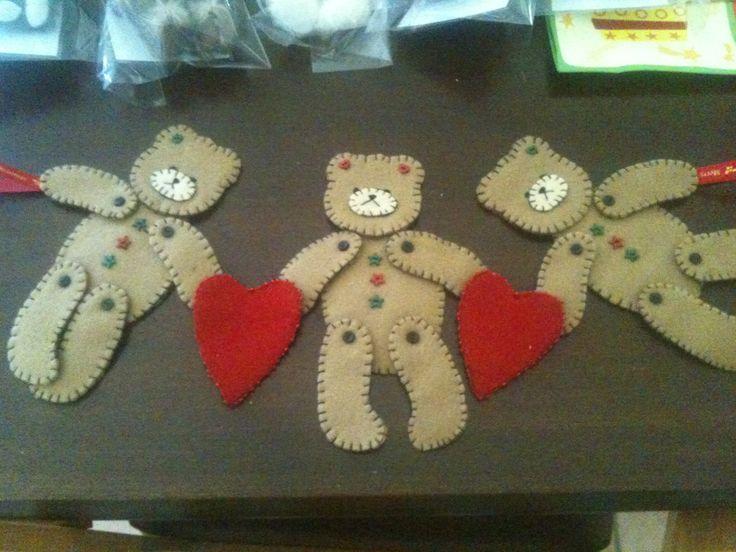 Teddy Christmas garland