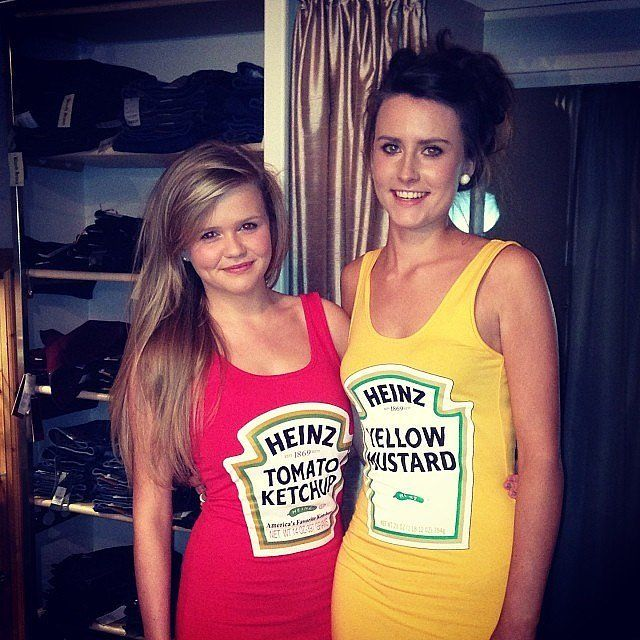 """HOLMZ"" Tomato and Mustard!!  Cute ideas here in the 'No Boys Allowed: 30 Duo Costumes to Rock With Your BFF'"