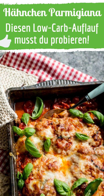 Hähnchen Parmigiana ist das perfekte Low-Carb-Gericht!