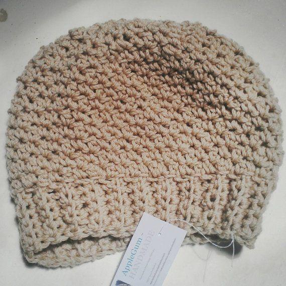 Chunky Stitch Crochet Ladies Soft Beanie by ApplegumHandmade