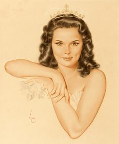 by Alberto Vargas ~ This is a painting of Alice Ann Kelley, who was Miss Junior America in 1948