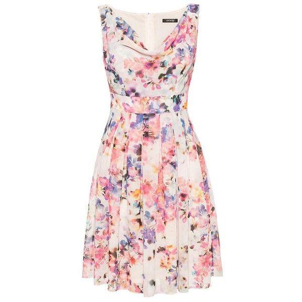 Kleid mit Blumenmuster, Helles Rosa - ORSAY Online Shop - feminine Mode und Accessoires für anspruchsvolle Frauen! (1.095 CZK) found on Polyvore