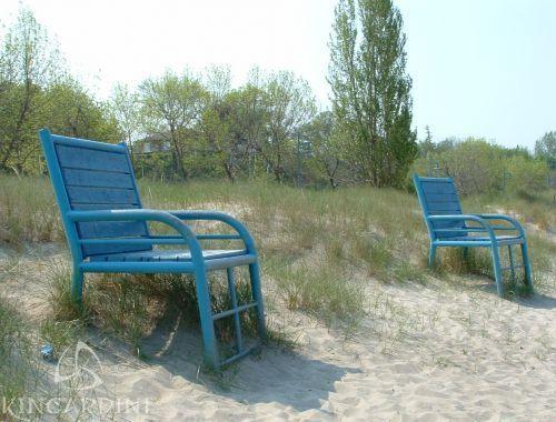 Giant Beach Chairs at Station Beach, Kincardine