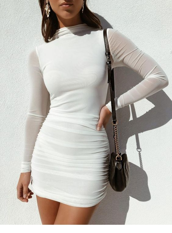 Just a white dress and a black bag 2