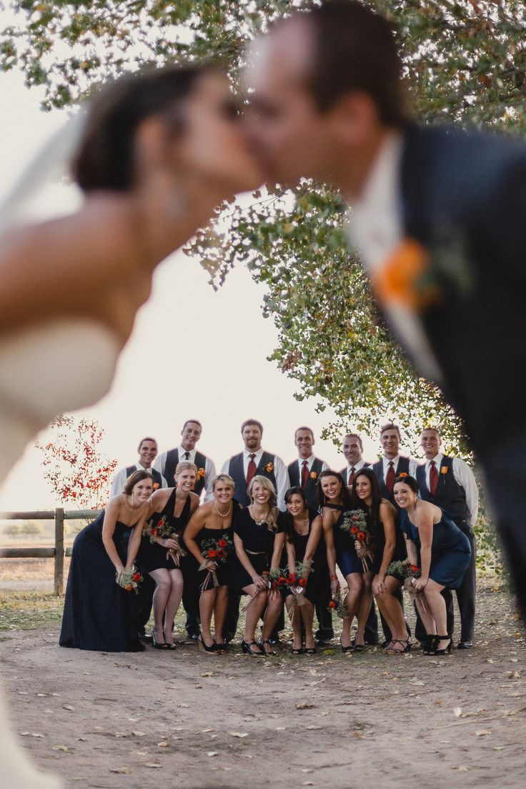 Wedding Photos: Bridal Party- It even worked out with a large bridal party!