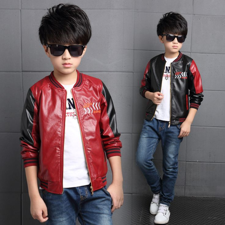 >> Click to Buy << 2017 Fashion Teenager Motorcycle Coats Boys Leather Jackets Patchwork Children Outerwear Letter Printed Boy Faux Leather Jacket #Affiliate