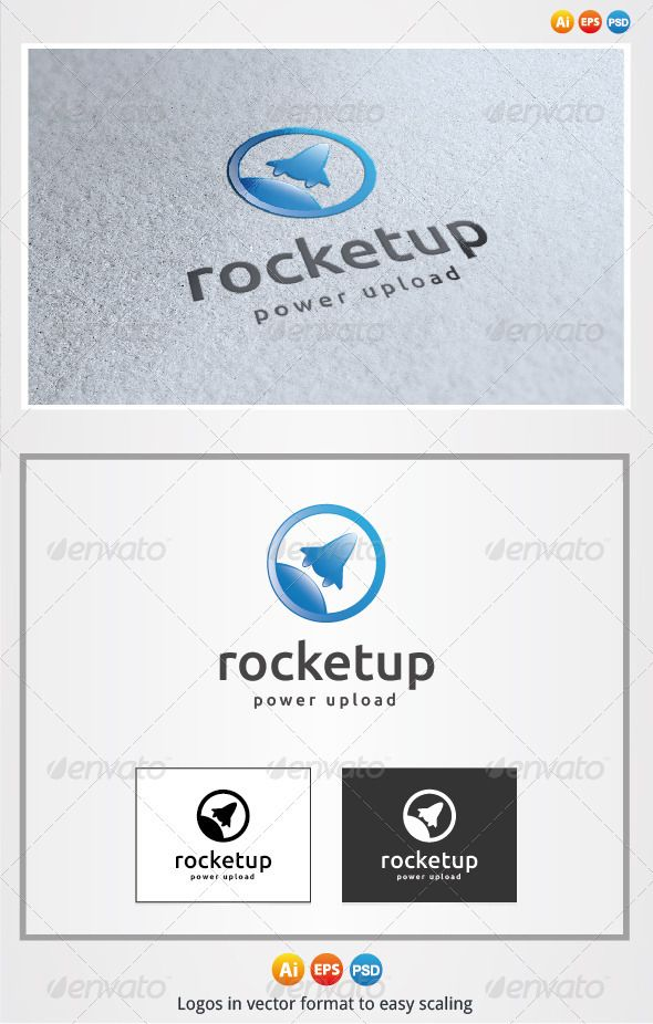 Rocket Up Logo — Photoshop PSD #branding #business • Available here → https://graphicriver.net/item/rocket-up-logo/2946556?ref=pxcr