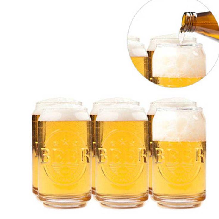 Vasos de Cerveza como Latas
