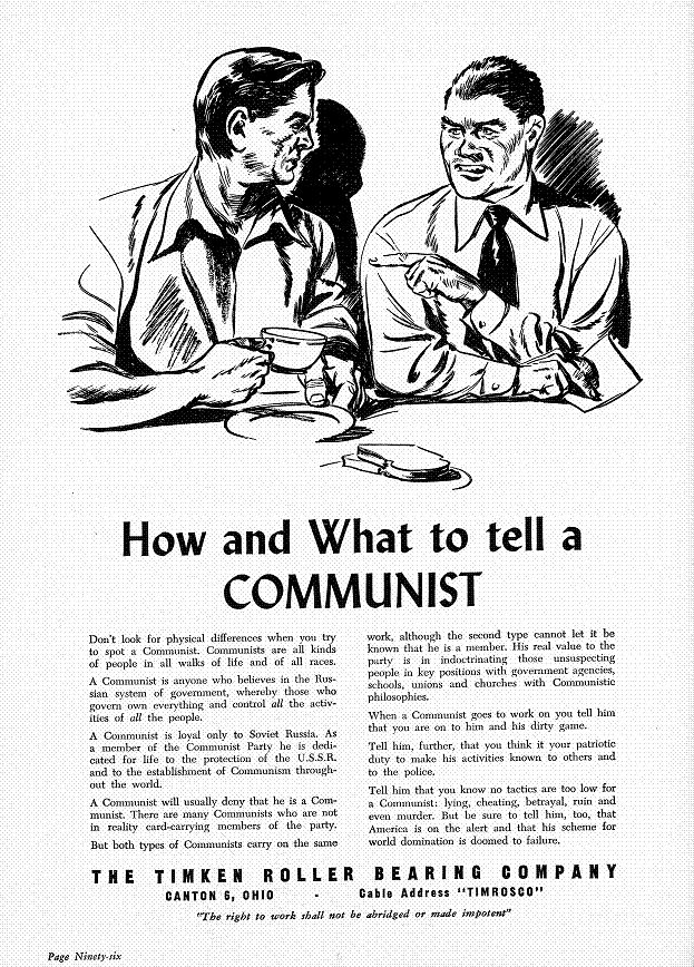 an introduction to the history of the red scare in the 1950s The red scare beginning of cold  introduction to cold war and 1950s 1950s research project intro thursday research project work day friday.