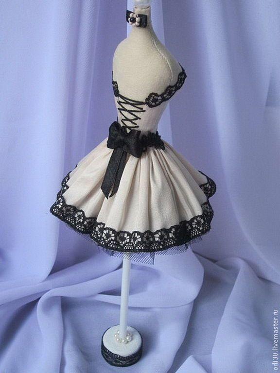 Купить Интерьерный мини-манекен. - чёрно-белый, розовый, контрастный, мини манекен, интерьерный манекен