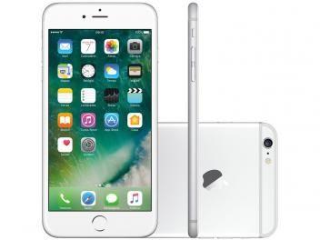 "iPhone 6 Plus Apple 16GB Prata 4G Tela 5,5"" Retina - Câmera 8MP iOS 10 Proc. M8 Touch ID"