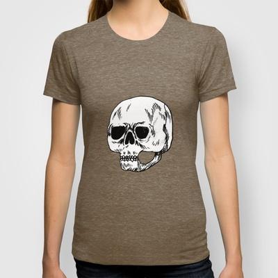 skull T-shirt by Júlio Dolbeth - $18.00
