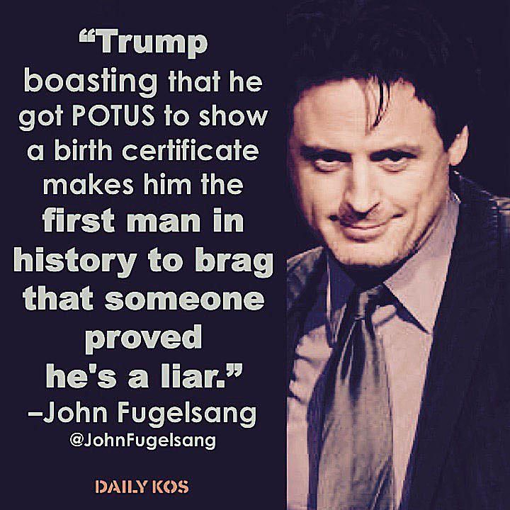 """Funny Quotes About Donald Trump by Comedians and Celebrities: John Fugelsang on Trump's """"Birther"""" Lie"""